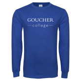 Royal Long Sleeve T Shirt-College Mark