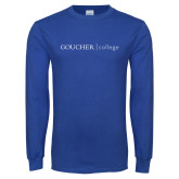 Royal Long Sleeve T Shirt-College Wordmark