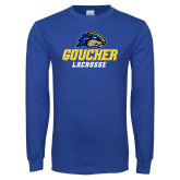 Royal Long Sleeve T Shirt-Lacrosse
