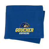 Royal Sweatshirt Blanket-Goucher Gophers Stacked