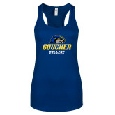 Next Level Ladies Royal Ideal Racerback Tank-Goucher College Stacked