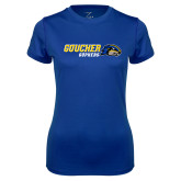 Ladies Syntrel Performance Royal Tee-Goucher Gophers Horizontal