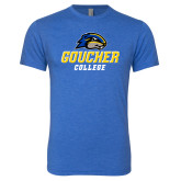 Next Level Vintage Royal Tri Blend Crew-Goucher College Stacked