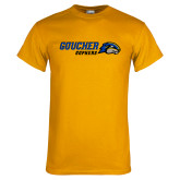 Gold T Shirt-Goucher Gophers Horizontal