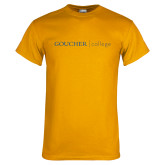 Gold T Shirt-College Wordmark
