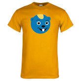 Gold T Shirt-Cute Gopher Mascot