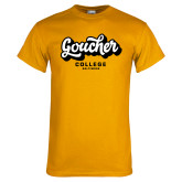 Gold T Shirt-Goucher College Script