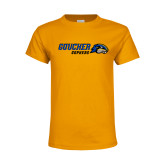 Youth Gold T Shirt-Goucher Gophers Horizontal