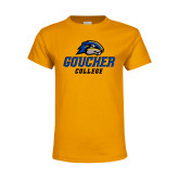 Youth Gold T Shirt-Goucher College Stacked