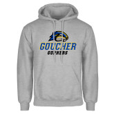 Grey Fleece Hoodie-Goucher Gophers Stacked