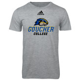 Adidas Sport Grey Logo T Shirt-Goucher College Stacked