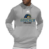 Adidas Grey Team Issue Hoodie-Goucher College Stacked