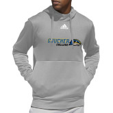 Adidas Grey Team Issue Hoodie-Goucher College Horizontal
