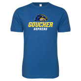 Next Level SoftStyle Royal T Shirt-Goucher Gophers Stacked