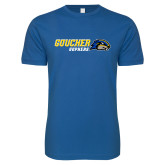 Next Level SoftStyle Royal T Shirt-Goucher Gophers Horizontal