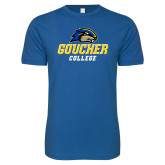 Next Level SoftStyle Royal T Shirt-Goucher College Stacked