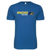 Next Level SoftStyle Royal T Shirt-Goucher College Horizontal