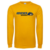 Gold Long Sleeve T Shirt-Goucher Gophers Horizontal