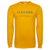Gold Long Sleeve T Shirt-College Mark