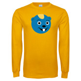 Gold Long Sleeve T Shirt-Cute Gopher Mascot