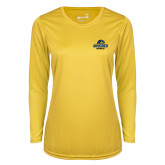 Ladies Syntrel Performance Gold Longsleeve Shirt-Goucher Gophers Stacked