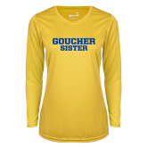 Ladies Syntrel Performance Gold Longsleeve Shirt-Sister