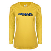 Ladies Syntrel Performance Gold Longsleeve Shirt-Goucher College Horizontal