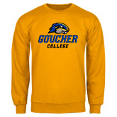 Gold Fleece Crew-Goucher College Stacked