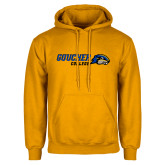 Gold Fleece Hoodie-Goucher College Horizontal