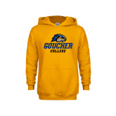 Youth Gold Fleece Hoodie-Goucher College Stacked