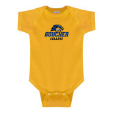 Gold Infant Onesie-Goucher College Stacked