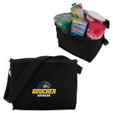 Six Pack Black Cooler-Goucher Gophers Stacked