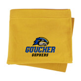 Gold Sweatshirt Blanket-Goucher Gophers Stacked