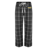 Black/Grey Flannel Pajama Pant-Goucher College Stacked