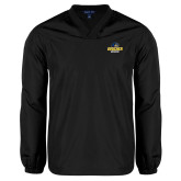 V Neck Black Raglan Windshirt-Goucher Gophers Stacked