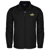 Full Zip Black Wind Jacket-Goucher College Stacked