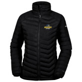 Columbia Powder Lite Ladies Black Jacket-Goucher Gophers Stacked