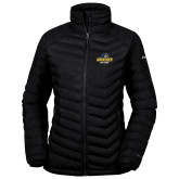 Columbia Powder Lite Ladies Black Jacket-Goucher College Stacked