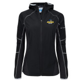 Columbia Ladies Sweet As Black Hooded Jacket-Goucher Gophers Stacked