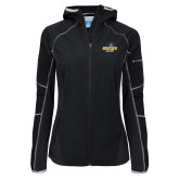 Columbia Ladies Sweet As Black Hooded Jacket-Goucher College Stacked