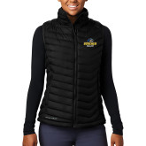 Columbia Lake 22 Ladies Black Vest-Goucher College Stacked