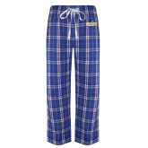 Royal/White Flannel Pajama Pant-Goucher Gophers Stacked