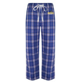 Royal/White Flannel Pajama Pant-Goucher College Stacked
