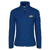 Columbia Ladies Full Zip Royal Fleece Jacket-Goucher College Stacked