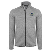 Grey Heather Fleece Jacket-Goucher College Stacked