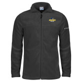 Columbia Full Zip Charcoal Fleece Jacket-Goucher College Stacked