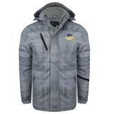 Grey Brushstroke Print Insulated Jacket-Goucher Gophers Stacked
