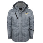 Grey Brushstroke Print Insulated Jacket-Goucher College Stacked