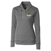 Ladies Cutter & Buck Shoreline Charcoal 1/2 Zip-Goucher Gophers Stacked