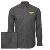 Red House Dark Charcoal Diamond Dobby Long Sleeve Shirt-Goucher College Stacked